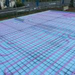 蓄熱式床冷暖房システム ポリエチレン管配管