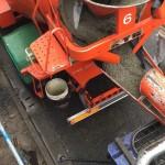 蓄熱式床冷暖房システム 蓄熱コンクリート打設