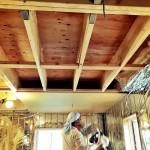 天井へのプラスターボード(石膏ボード)張り
