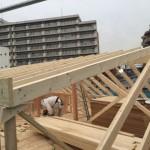 小屋組は枠組壁工法を採用しています
