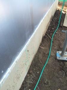 基礎外断熱と建物外皮取り合い部基礎処理