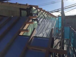 外張り断熱屋根部先張りシート