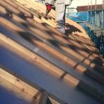 外張り断熱工法のケースでは、屋根は二度製作します