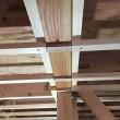 二階床下エアコン送風径路考察後の天井の野縁組みスリット部