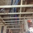 2階床下エアコン流通経路、電気配線