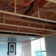 車庫天井内が2階床下エアコン送風開始地点