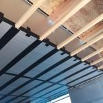 2階床下エアコン送風スペースは建物外皮部車庫天井となっています