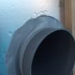 第1種全熱交換型OAスリーブ管廻り気密・防水テープ目張り