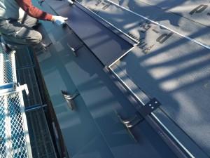 屋根ガルバリウム鋼板敷き