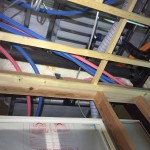 2階床下エアコンの気流止め個所