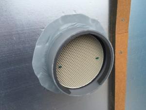 外壁側スリーブ管周りへの気密・防水処理