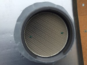 外壁側スリーブ管周りへの気密・防水処理2