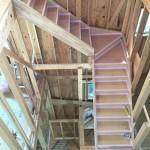 階段架けとフロア張り