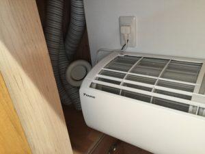 2階床下エアコン送風口付近のSA口
