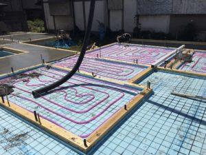 蓄熱コンクリート ポンプ圧送
