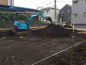 根切り 掘削作業