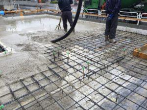 土間床基礎 耐圧盤コンクリート打設