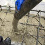 土間床基礎の耐圧盤コンクリート打設を行いました
