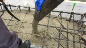 耐圧盤 生コンクリート打設ポンプ圧送