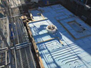 蓄熱式床暖房システム 架橋ポリエチレン管配管