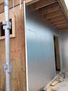 外壁硬質ウレタンフォーム断熱材50mm厚張り2