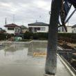 土間床基礎(逆ベタ基礎)耐圧盤コンクリート打設終了