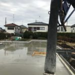 一般住宅での耐圧盤コンクリート打設総量、62.5m3はなかなかありません