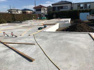 土間床基礎(逆ベタ基礎)耐圧盤