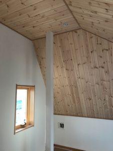 3階天井パイン羽目板