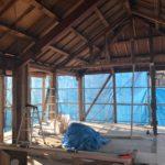 フルリフォーム 2階構造部木工作業が開始されました