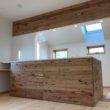 キッチン本体造作背面収納とトップライト