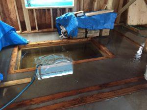 台風9号による浸水