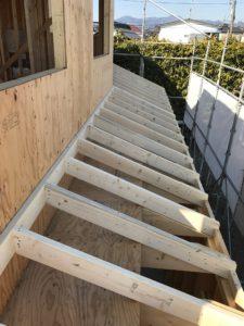 2×4工法 下屋垂木