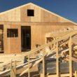 2×4工法 平屋部屋根組みと2階建て部小屋組み