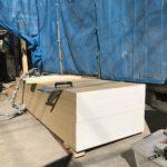 外壁下地用耐力面材 「タイガーEXボード」を張っています