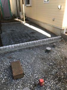 車庫土間コンクリート打設前