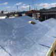屋根キューワンボード敷きトップライト付近