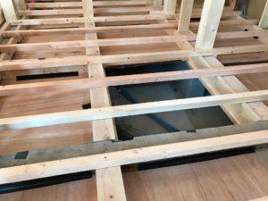 床暖熱 根太・大引き下の基礎内部状況