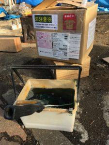 ホウ酸系木材保存剤 エコボロンPRO塗布段取り
