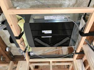 エコエア90 1基目本体天井吊り