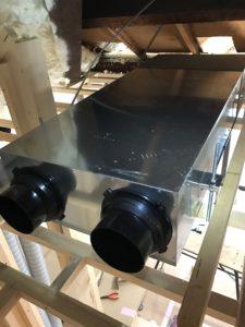 エコエア90 2基目本体天井設置状況