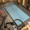 基礎内断熱 SB床下架台ボルト脚部穴あけ
