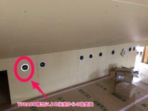 YUCACOシステム SB換気扇内気の出口