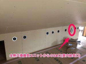 全熱交換換気ユニット 小屋裏内への一括供給