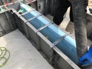 基礎内断熱 布基礎部分(基礎立上り)生コン打設前開始状況