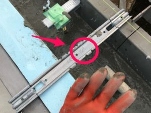 基礎内断熱 立上り外周部セパレータ225mm幅状況